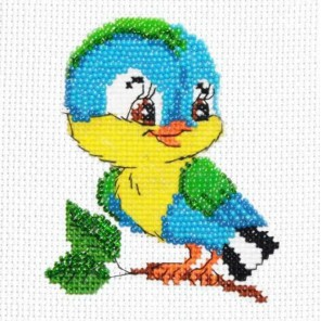 Синичка Набор для частичной вышивки бисером Паутинка