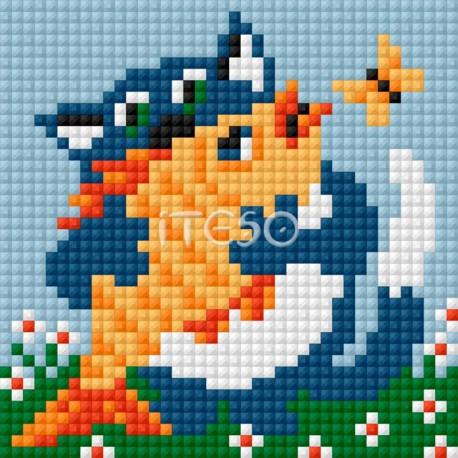Кот с рыбкой Алмазная мозаика на магнитной основе Iteso