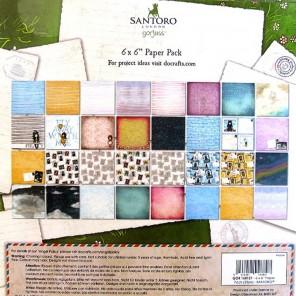 Наконец-то весна Набор бумаги для скрапбукинга, кардмейкинга Santoro's Gorjuss