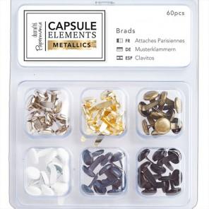 Elements Metallics Набор брадс для скрапбукинга, кардмейкинга Docrafts
