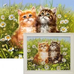 Летние котята Алмазная вышивка мозаика Гранни