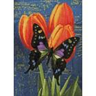 Раскладка Бабочка на тюльпанах Алмазная вышивка мозаика Гранни