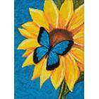 Раскладка Бабочка и подсолнух Алмазная вышивка мозаика Гранни