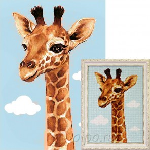 Жирафик Алмазная вышивка мозаика Гранни