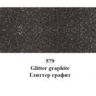 579 Графит С глиттерами Краска для ткани Marabu ( Марабу ) Textil Glitter