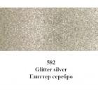 582 Серебро С глиттерами Краска для ткани Marabu ( Марабу ) Textil Glitter