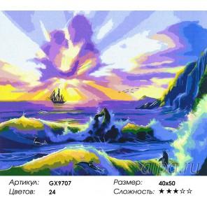 Количество цветов и сложность Фантастический закат Раскраска картина по номерам акриловыми красками на холсте