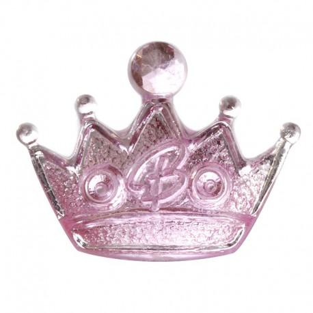 Корона розовая Декоративное пластиковое украшение Glorex