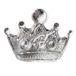 Корона серебристая Декоративное пластиковое украшение Glorex