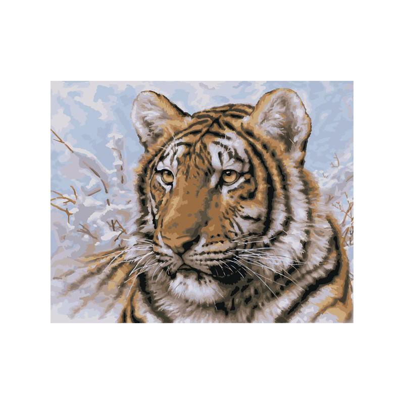 Сибирский тигр 21674 Раскраска по номерам Plaid PLAID PLD ...
