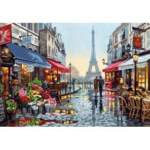 Цветочный магазин в Париже Раскраска картина по номерам Dimensions