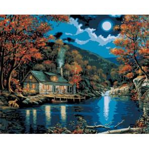 Хижина в лунном свете 21690 Раскраска по номерам акриловыми красками Plaid