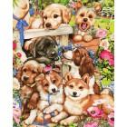 Озорные щенки Раскраска картина по номерам акриловыми красками на холсте