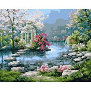Японский сад 21692 Раскраска по номерам акриловыми красками Plaid