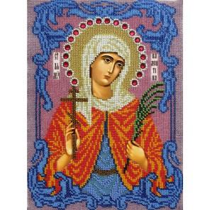 Святая Валентина Набор для частичной вышивки бисером Вышиваем бисером