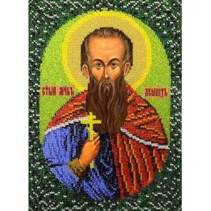 Святой Леонид Набор для частичной вышивки бисером Вышиваем бисером