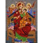 Богородица Всецарица Набор для частичной вышивки бисером Вышиваем бисером