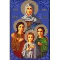 Святые Вера, Надежда, Любовь и Софья Набор для вышивки бисером Вышиваем бисером