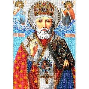 Святой Николай Чудотворец Набор для частичной вышивки бисером Вышиваем бисером