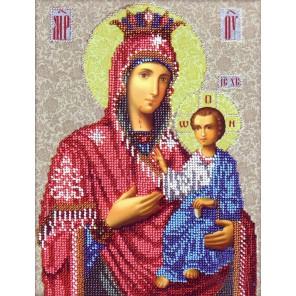 Иверская Богородица Набор для частичной вышивки бисером Вышиваем бисером