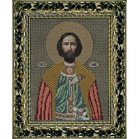 Святой Роман Набор для частичной вышивки бисером Вышиваем бисером