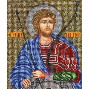 Святой Никита Воин Набор для частичной вышивки бисером Вышиваем бисером