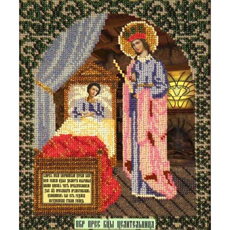 Богородица Целительница Набор для частичной вышивки бисером Вышиваем бисером
