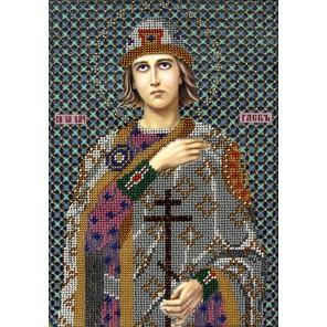 Святой Глеб Набор для частичной вышивки бисером Вышиваем бисером