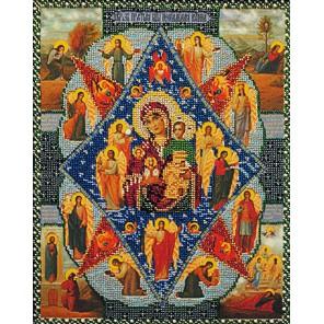 Богородица Неопалимая Купина Набор для частичной вышивки бисером Вышиваем бисером