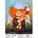 Ангел с кроликом Раскраска картина по номерам на холсте