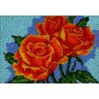 Алые розы Набор для частичной вышивки бисером Вышиваем бисером