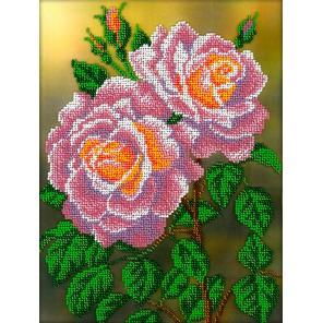 Розовые розы Набор для частичной вышивки бисером Вышиваем бисером