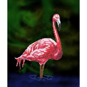 Фламинго Набор для частичной вышивки бисером Вышиваем бисером