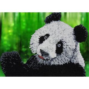 Панда Набор для частичной вышивки бисером Вышиваем бисером