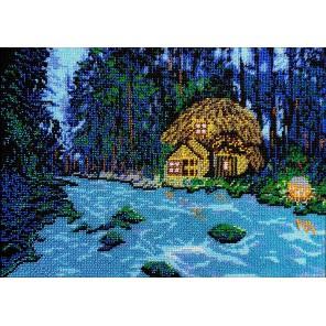 Волшебный лес Набор для частичной вышивки бисером Вышиваем бисером