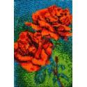 Красные розы Набор для частичной вышивки бисером Вышиваем бисером
