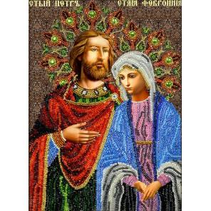 Святые Петр и Феврония Набор для частичной вышивки бисером Вышиваем бисером