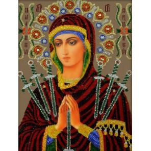 Богородица Семистрельная Набор для частичной вышивки бисером Вышиваем бисером