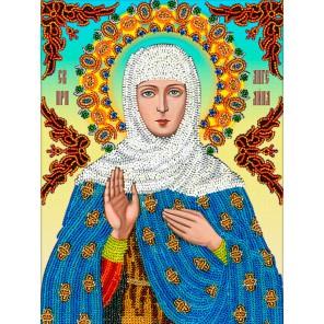 Святая Ангелина Набор для частичной вышивки бисером Вышиваем бисером