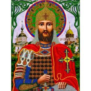 Александр Невский Набор для частичной вышивки бисером Вышиваем бисером