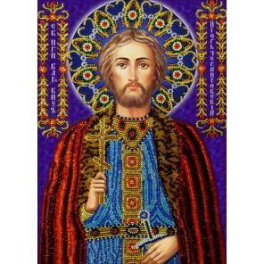 Святой Игорь Набор для частичной вышивки бисером Вышиваем бисером
