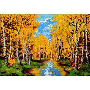 Золотая осень Набор для частичной вышивки бисером Вышиваем бисером