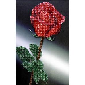 Роза Набор для частичной вышивки бисером Вышиваем бисером