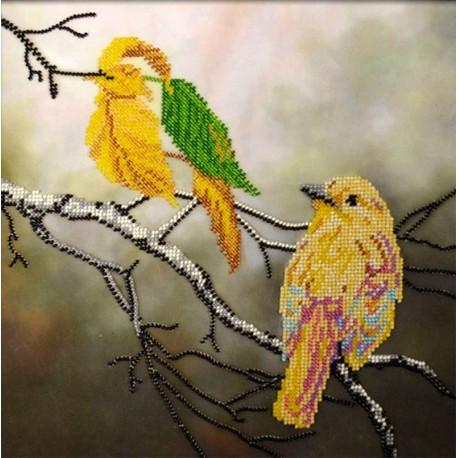 Осенняя иллюзия Набор для частичной вышивки бисером Вышиваем бисером