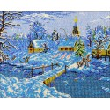Зимняя сказка Виктора Цыганова Набор для частичной вышивки бисером Вышиваем бисером