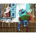 Серенада на заборе Раскраска картина по номерам акриловыми красками на холсте