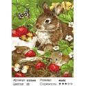 Зайчонок и мышата Раскраска картина по номерам на холсте