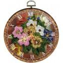 Часы Букет Набор с рамкой для частичной вышивки бисером Вышиваем бисером