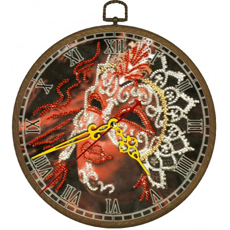 Часы Маска Набор с рамкой для частичной вышивки бисером Вышиваем бисером