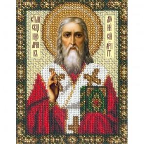 Святой Дионисий Набор для частичной вышивки бисером Русская искусница